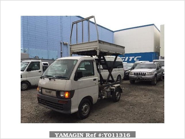 It is a picture of the white daihatsu hijet truck in 1996,Sub Photo 1 Stock No.Y011316