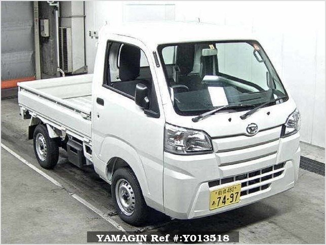 It is a picture of the white daihatsu hijet  truck in 2017,Sub Photo 0 Stock No.Y013518