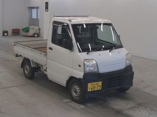 It is a picture of the white mitsubishi minicab in 1999,First Photo Stock No.Y013704