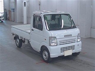 It is a picture of the white suzuki carry  in 2008,First Photo Stock No.Y013744