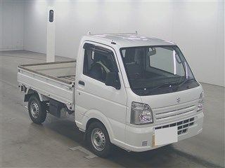 It is a picture of the white suzuki carry  in 2014,First Photo Stock No.Y014157