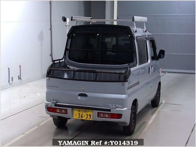 It is a picture of the silver mitsubishi minicab deck van in 2013,Sub Photo 15 Stock No.Y014319