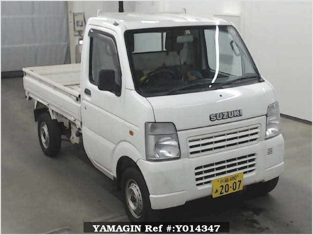 It is a picture of the white suzuki carry  in 2007,Sub Photo 0 Stock No.Y014347
