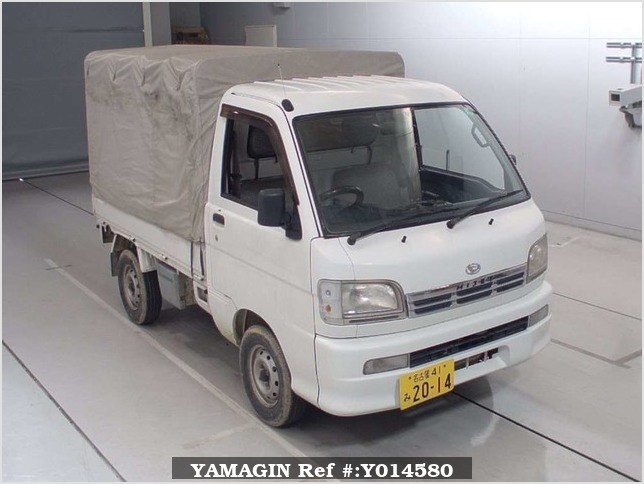 It is a picture of the white daihatsu hijet  in 2000,Sub Photo 0 Stock No.Y014580