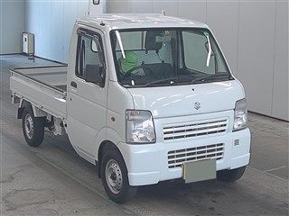 It is a picture of the white suzuki carry  in 2010,First Photo Stock No.Y014618