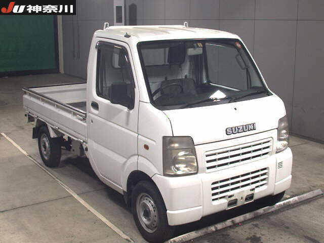 It is a picture of the white suzuki carry  in 2004,First Photo Stock No.Y015214