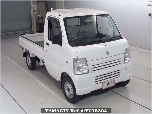 It is a picture of the white suzuki carry truck in 2010,Sub Photo 0 Stock No.Y015394