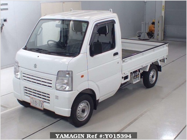 It is a picture of the white suzuki carry truck in 2010,Sub Photo 4 Stock No.Y015394