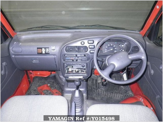 It is a picture of the red daihatsu hijet in 1997,Sub Photo 2 Stock No.Y015498