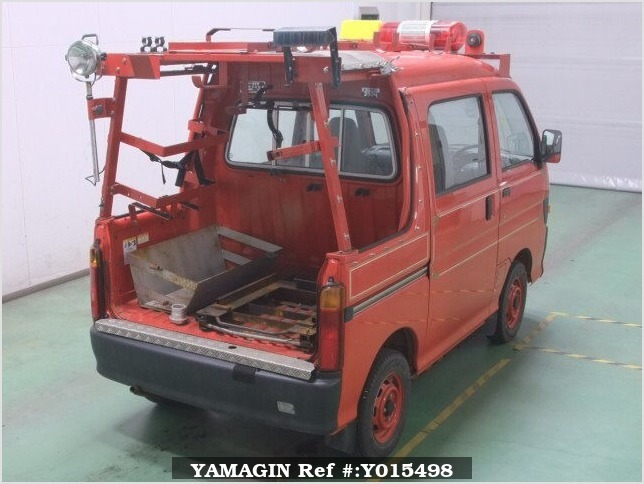 It is a picture of the red daihatsu hijet in 1997,Sub Photo 6 Stock No.Y015498