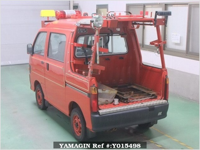It is a picture of the red daihatsu hijet in 1997,Sub Photo 1 Stock No.Y015498