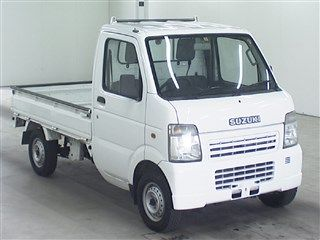 It is a picture of the white suzuki carry  truck in 2007,First Photo Stock No.Y015529