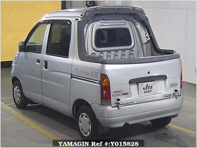 It is a picture of the silver daihatsu hijet in 1999,Sub Photo 1 Stock No.Y015828