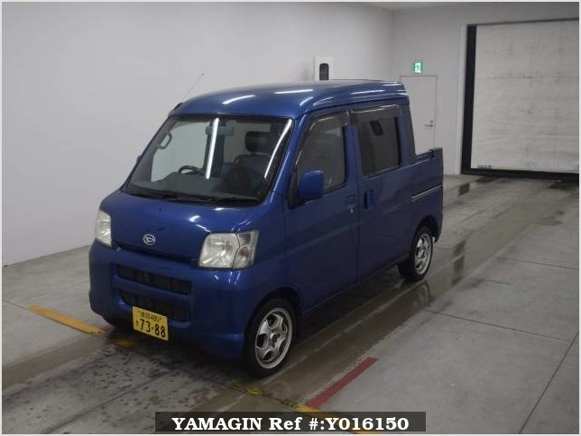 It is a picture of the blue daihatsu hijet  deck van in 2005,Sub Photo 3 Stock No.Y016150