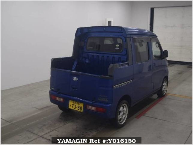 It is a picture of the blue daihatsu hijet  deck van in 2005,Sub Photo 4 Stock No.Y016150