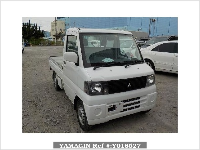 It is a picture of the white mitsubishi minicab truck in 2001,Sub Photo 0 Stock No.Y016527