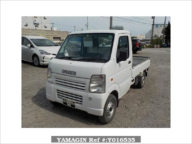 It is a picture of the white suzuki carry  truck in 2008,Sub Photo 1 Stock No.Y016535