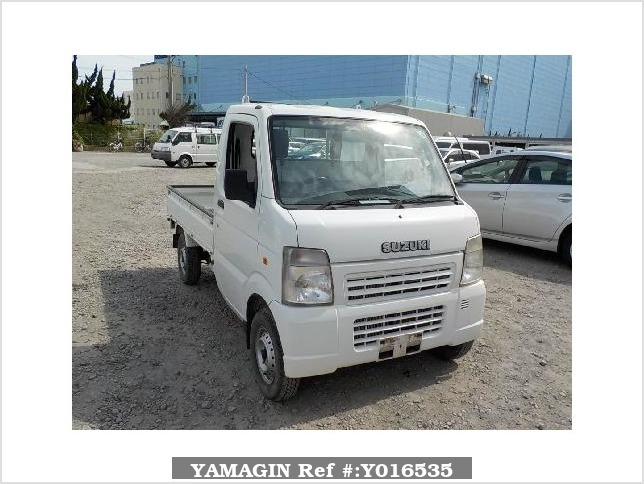 It is a picture of the white suzuki carry  truck in 2008,Sub Photo 0 Stock No.Y016535