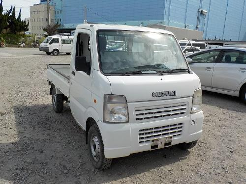 It is a picture of the white suzuki carry  truck in 2008,First Photo Stock No.Y016535