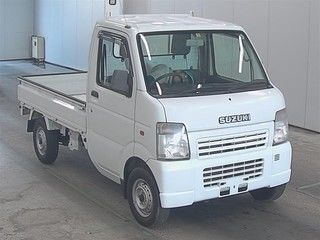 It is a picture of the white suzuki carry  in 2008,First Photo Stock No.Y016568