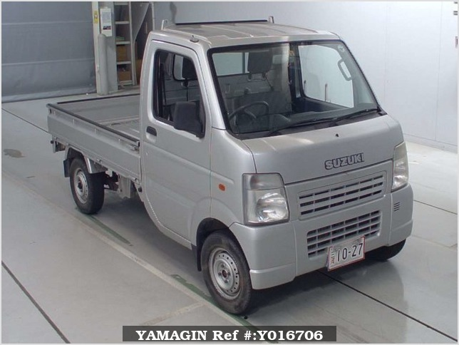 It is a picture of the silver suzuki carry  truck in 2004,Sub Photo 0 Stock No.Y016706
