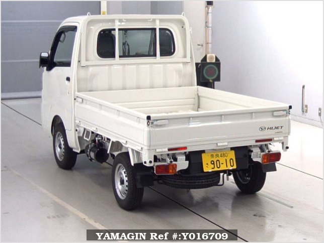 It is a picture of the white daihatsu hijet dump in 2018,Sub Photo 1 Stock No.Y016709