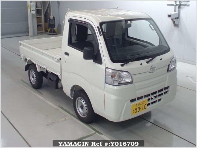 It is a picture of the white daihatsu hijet dump in 2018,Sub Photo 0 Stock No.Y016709