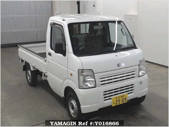 It is a picture of the white suzuki carry  truck in 2013,Sub Photo 0 Stock No.Y016866