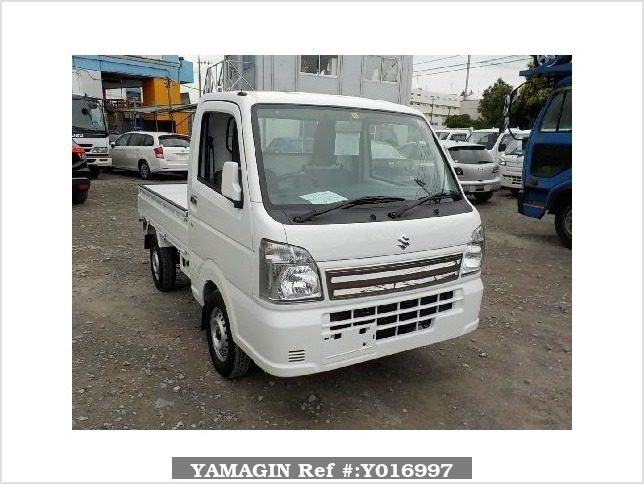 It is a picture of the white suzuki carry truck in 2017,Sub Photo 0 Stock No.Y016997