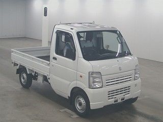 It is a picture of the white suzuki carry  in 2010,First Photo Stock No.Y017007