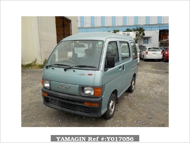 It is a picture of the green daihatsu hijet passenger van in 1996,Sub Photo 1 Stock No.Y017056