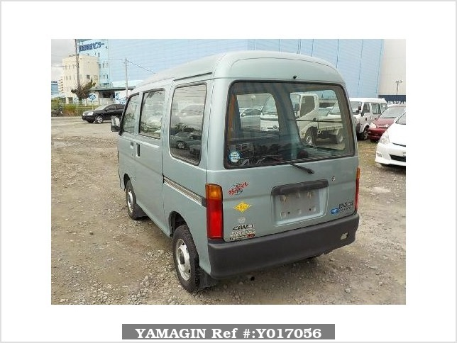 It is a picture of the green daihatsu hijet passenger van in 1996,Sub Photo 3 Stock No.Y017056