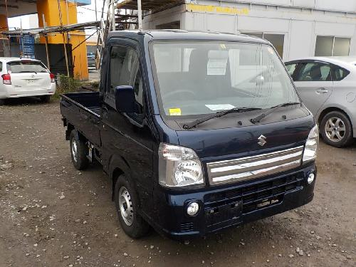 It is a picture of the blue suzuki carry truck in 2017,First Photo Stock No.Y017084