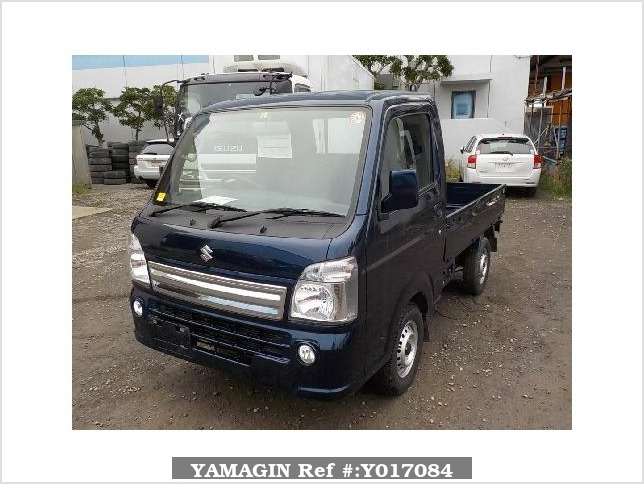 It is a picture of the blue suzuki carry truck in 2017,Sub Photo 1 Stock No.Y017084