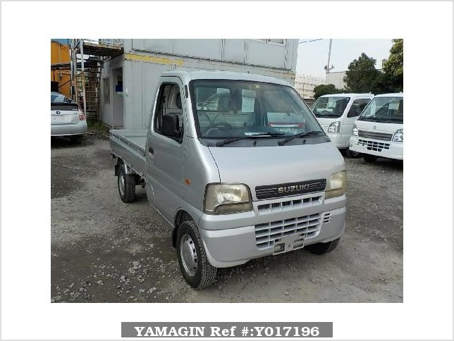 It is a picture of the silver suzuki carry  truck in 2002,Sub Photo 0 Stock No.Y017196