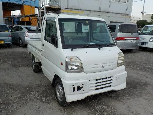 It is a picture of the white mitsubishi minicab truck in 2000,First Photo Stock No.Y017197