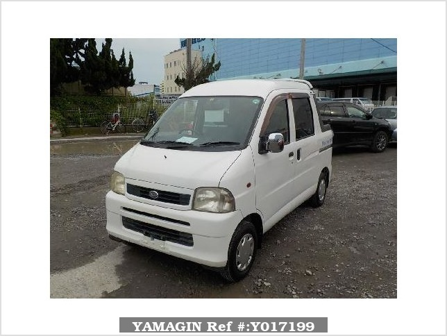 It is a picture of the white daihatsu hijet  deck van in 2002,Sub Photo 1 Stock No.Y017199