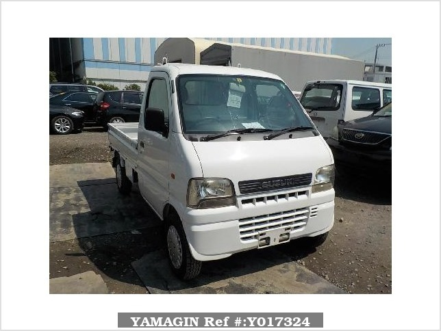It is a picture of the white suzuki carry truck in 2002,Sub Photo 0 Stock No.Y017324