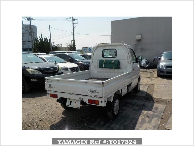 It is a picture of the white suzuki carry truck in 2002,Sub Photo 2 Stock No.Y017324
