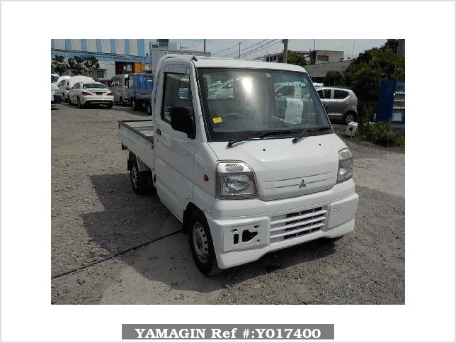 It is a picture of the white mitsubishi minicab truck in 2000,Sub Photo 0 Stock No.Y017400
