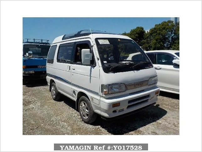 It is a picture of the white daihatsu atrai passenger van in 1992,Sub Photo 0 Stock No.Y017528