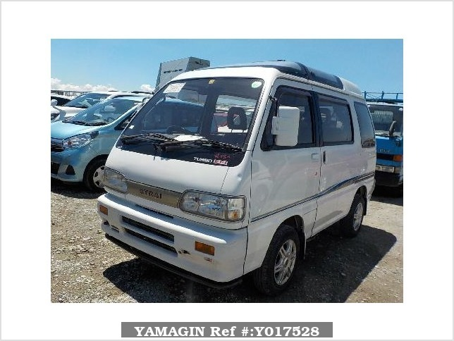 It is a picture of the white daihatsu atrai passenger van in 1992,Sub Photo 1 Stock No.Y017528