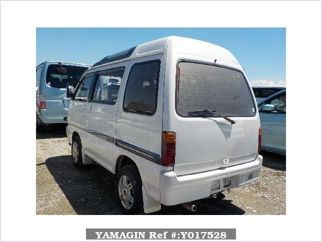 It is a picture of the white daihatsu atrai passenger van in 1992,Sub Photo 3 Stock No.Y017528