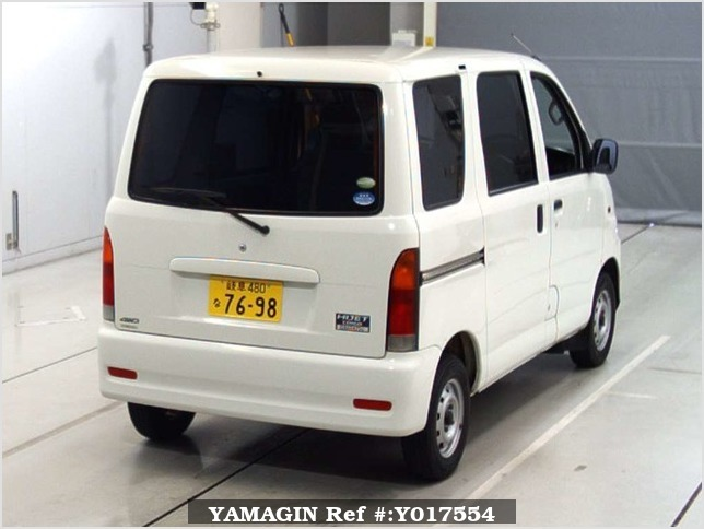 It is a picture of the white daihatsu hijet  in 2004,Sub Photo 5 Stock No.Y017554
