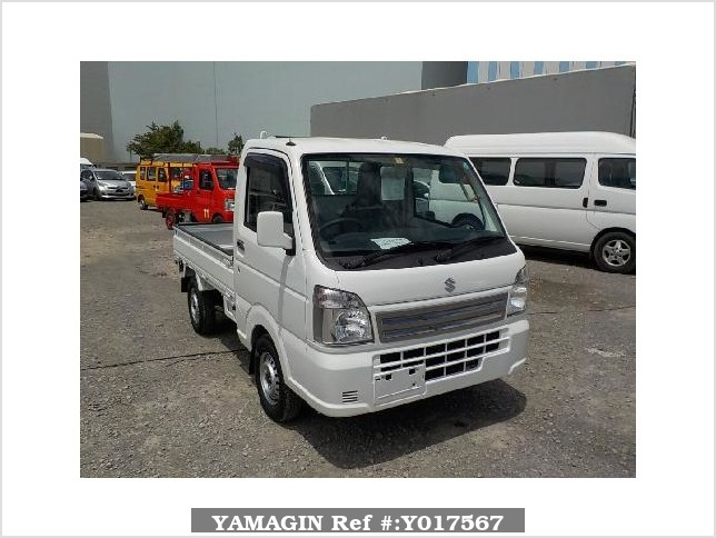 It is a picture of the white suzuki carry truck in 2018,Sub Photo 0 Stock No.Y017567