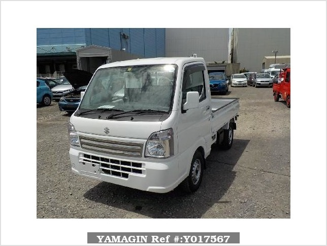 It is a picture of the white suzuki carry truck in 2018,Sub Photo 1 Stock No.Y017567