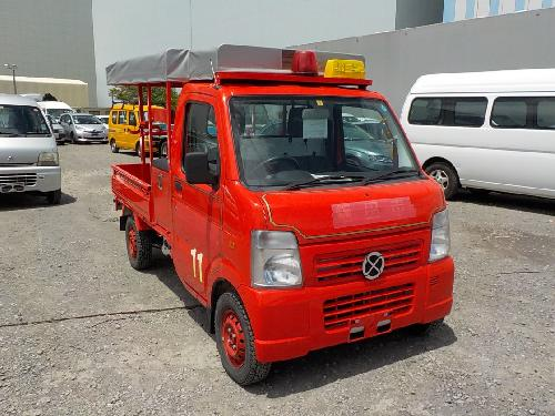 It is a picture of the red suzuki carry fire truck in 2010,First Photo Stock No.Y017569