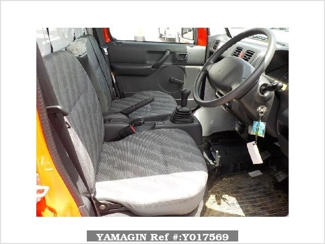 It is a picture of the red suzuki carry fire truck in 2010,Sub Photo 5 Stock No.Y017569