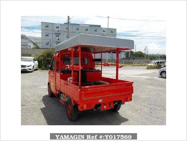 It is a picture of the red suzuki carry fire truck in 2010,Sub Photo 3 Stock No.Y017569