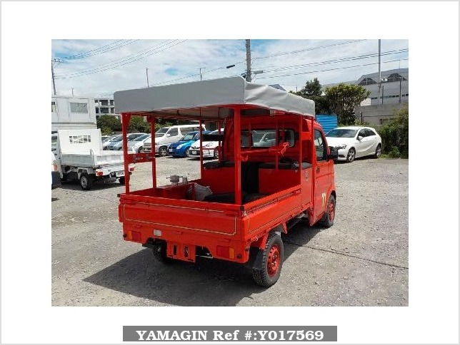 It is a picture of the red suzuki carry fire truck in 2010,Sub Photo 2 Stock No.Y017569